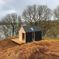 Two unique structures Uisge (Oosh-Ka) and Beatha (Bay-Ah) are set on secret patches of wilderness. Sauna Design, Cabin Design, Tiny House Design, Tiny House Cabin, Tiny House Living, Bothy, Cabins In The Woods, Prefab, Cladding