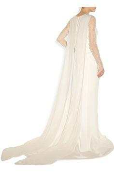 Antonio Berardi|Silk-blend crepe and lace gown