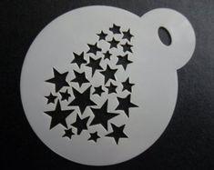 Bespoke Stencils by laserbladestencils on Etsy Face Painting Stencils, Coffee Stencils, Cricut Stencils, Bear Cookies, Star Designs, Etsy Seller, Scrapbook, Stars, Bespoke