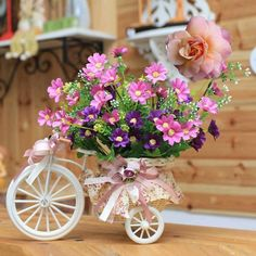 Mini-pedals and posies planter :)