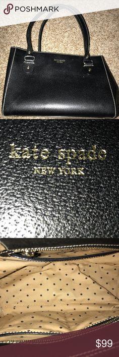 Kate Spade Black Leather Shoulder Purse! Kate Spade Black Leather Shoulder Purse! Awesome! kate spade Bags Shoulder Bags