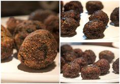 Οι παναρισμένοι κεφτέδες (αριστερά) και οι απλοί Ground Meat, Cookies, Chocolate, Desserts, Food, Biscuits, Deserts, Schokolade, Cookie Recipes