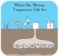 http://lastlemon.com/harolds-planet/hp5793/ Where the Missing Tupperware Lids Go