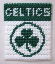 Boston Celtics tissue box cover in plastic canvas PATTERN ONLY by AuntCC for $2.50
