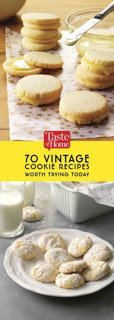 Gourmet Cookie recipes - 70 Vintage Cookie Recipes Worth Trying Today Galletas Cookies, Candy Cookies, No Bake Cookies, Cookie Desserts, Yummy Cookies, Chip Cookies, Just Desserts, Delicious Desserts, Dessert Recipes