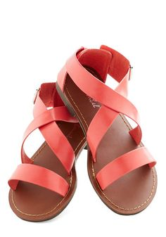 Leisurely Weekend Sandal, #ModCloth - only $27.99  Casual flats for dancing or rehearsal dinner (or honeymoon)