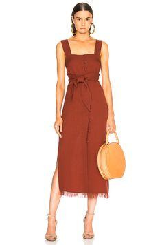Nanushka Riley Dress in Brick | FWRD