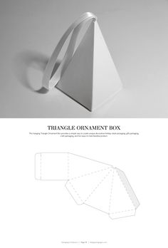 Triangle Ornament Box – structural packaging design dielines