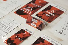 "Wedding Stationery ""Image with Bogart"" / Red Orange by Pan Lis, via Behance"