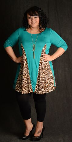 Jade & Leopard Tunic Dress