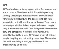Meyers Briggs Type's s Sense of Humor