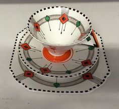 Shelley Vogue ART Deco Trio Diamonds Pattern | eBay