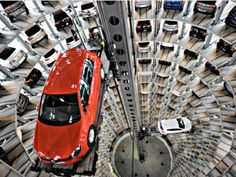 Volkswagen's Car Towers at Autostadt in Wolfsburg, Germany  #germany   #volkswagen   #amazing