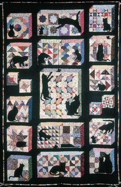 Cats in the Sampler quilt