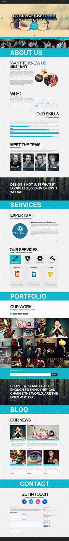 Xiara - #Responsive Onepage #Parallax #HTML Template on #Behance #Webdesign