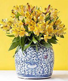 Brabourne Farm - ginger jar with yellow alstroemerias ჱ ܓ ჱ ᴀ ρᴇᴀcᴇғυʟ ρᴀʀᴀᴅısᴇ ჱ ܓ ჱ ✿⊱╮ ♡ ❊ ** Buona giornata ** ❊ ~ ❤✿❤ ♫ ♥ X ღɱɧღ ❤ ~ Fr 06th Feb 2015