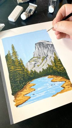 🏞 Painting Half Dome by Philip Boelter See more satisfying art videos like this on BoelterDesignCo. Small Canvas Art, Mini Canvas Art, Diy Canvas, Small Art, Easy Canvas Art, Canvas Painting Tutorials, Painting Videos, Canvas Painting Designs, Painting Styles