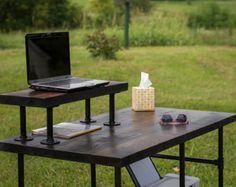Computer Desk Reclaimed Wood Table Rustic Barnwood by BeRusticCo