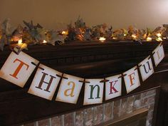 Thankful Banner Garland Bunting Swag by inspirationalbanners Thanksgiving Banner, Thanksgiving Crafts For Kids, Thanksgiving Parties, Autumn Crafts, Thanksgiving Decorations, Holiday Crafts, Holiday Fun, Thanksgiving Photos, Fall Decorations