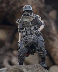 Character Concept, Character Design, Character Art, Gas Mask Art, Arte Ninja, Soldier Costume, Apocalypse Art, Samurai, Ashley Wood