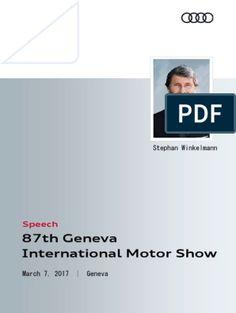 Speech Audi Sport GmbH Geneva International Motor Show 2017 Enhancement Pills, Audi Sport, Geneva