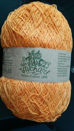 1 skein ethno cotton 70% cotton 30% linen yarn 200gr 1200m #vivchari