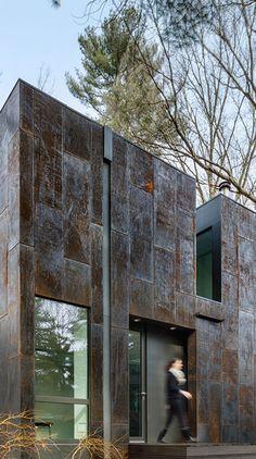 """Grow Box"", Weathering Steel Home, Massachusetts - Merge Architects                                                                                                                                                                                 More"