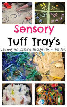 Sensory Tuff Trays, Tuff Tray ideas, Tuff tray ideas for preschool. Sensory Bins. Learning and Exploring Through Play.