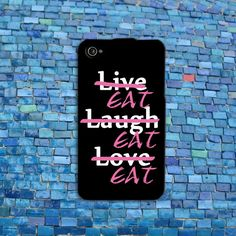 Funny Live Love Laugh iPhone Quote Case