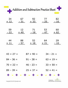 """My Terrific Turkey"""" FREE Addition & Subtraction Worksheet for ..."""