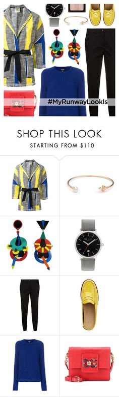 """""""MyRunwayLookIs"""" by cly88 ❤ liked on Polyvore featuring SEMICOUTURE, S/H KOH, Ted Baker, Etro, G.H. Bass & Co., Calvin Klein 205W39NYC, Dolce&Gabbana and Bobbi Brown Cosmetics"""