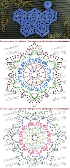 Crochet rug square stitches ideas for 2019 Crochet Stitches Chart, Crochet Motif Patterns, Crochet Diagram, Stitch Patterns, Crochet Squares, Crochet Doilies, Crochet Flowers, Crochet Wool, Irish Crochet