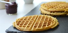 New favorite waffle recipe. I just add some stevia to sweeten them up a little: Gluten Free Oat Waffles (Ridiculously Awesome!) - Girl Makes Food Gluten Free Waffles, Gluten Free Oats, Gluten Free Baking, Dairy Free, Oat Flour Recipes, Waffle Recipes, Real Food Recipes, Cooking Recipes, Yummy Food