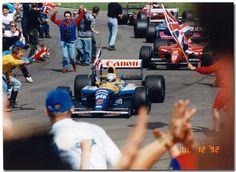 """Mansell Mania"" Race Winner Nigel Mansell Williams Renault FW14B F1.1992 British GP Silverstone"
