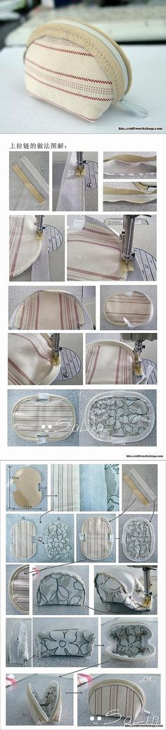 Sewing a wallet Coin Purse Pattern, Purse Patterns, Coin Purse Wallet, Quilted Bag, Zipper Bags, Handmade Bags, Sewing Tutorials, Purses And Bags, Quilting