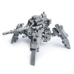KriegsLäufer by Fredoichi Lego Mecha, Robot Lego, Lego Bots, Lego Spaceship, Lego Bionicle, Lego Design, Lego Army, Lego Ww2, Micro Lego