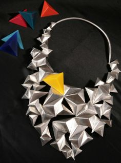 Large scale Neckpiece Commission - sterling silver and magnetic resin components (45 x 25cm)
