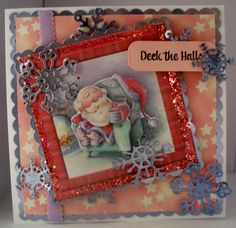 Tonic threaded scallop dies & snowflakes from Sue Wilson & Spellbinders