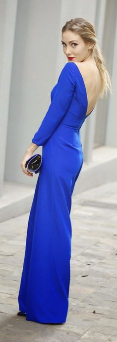 BLUE KLEIN LONG DRESS by Personal Style