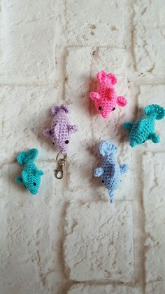Crochet dolphin - Dolphin key chain - Crochet dolphin key chain - Handmade keychain - Cute keychain - Dolphin keychain - Handmade dolphin by bellafarfallaboutiqu. Explore more products on http://bellafarfallaboutiqu.etsy.com