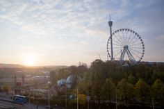 View from Congress center Svenska Mässan Gothenburg, Ferris Wheel, Fair Grounds, Random, Travel, Viajes, Destinations, Traveling, Trips