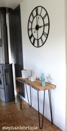 DIY Deco: a very natural console - dressing Furniture Vanity, Home Furniture, Minimalist Kitchen, New Home Gifts, Home Interior Design, Home Projects, Home Decor, Homemade Things, Recherche Google