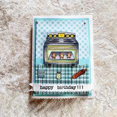 Happy Birthday 3 🎈🎁🎉🎂 #lawnfawn #chameleonpens #happybirthday #cardmaking #papercrafts #faidate #homemade #nobigshot