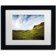 Trademark Fine Art 'Icelandic Green' Canvas Art by Philippe Sainte-Laudy, White Matte, Black Frame, Size: 11 x 14, Multicolor