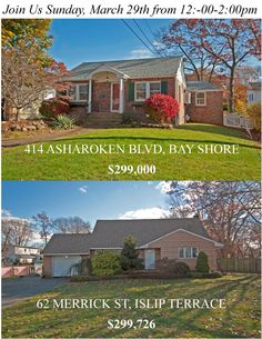 Two Great Houses To Check Out This Sunday.. Joins Us!