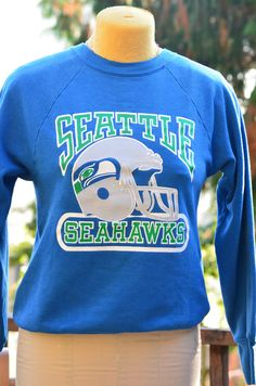 Vintage Seattle Seahawks Football Royal Blue by WestWoodVintage Seahawks  Football dba12c188