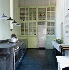 mint green & charcoal: Riad Charai in Morocco : Remodelista