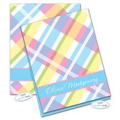 Olivia Plaid Note Card