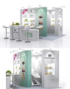 Prestige Exhibition Stand Design featuring a unique 'pop up massage shop'.  For more information, visit www.prestige-system.com