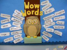 Wow Words display - Classroom